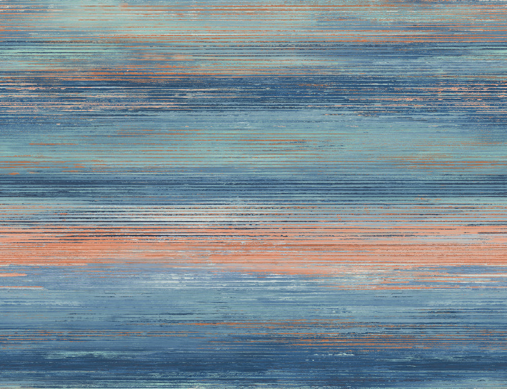 Seabrook Designs Living with Art Sunset Stripe Wallpaper