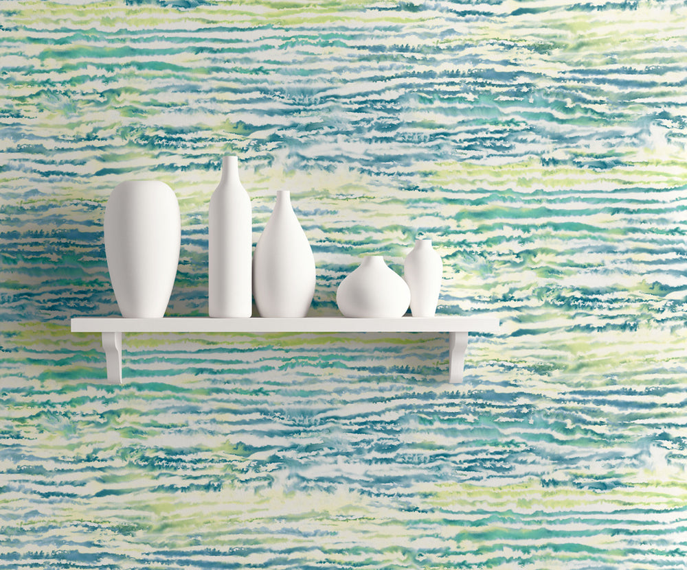 Seabrook Designs Living with Art Watercolor Waves Abstract Wallpaper