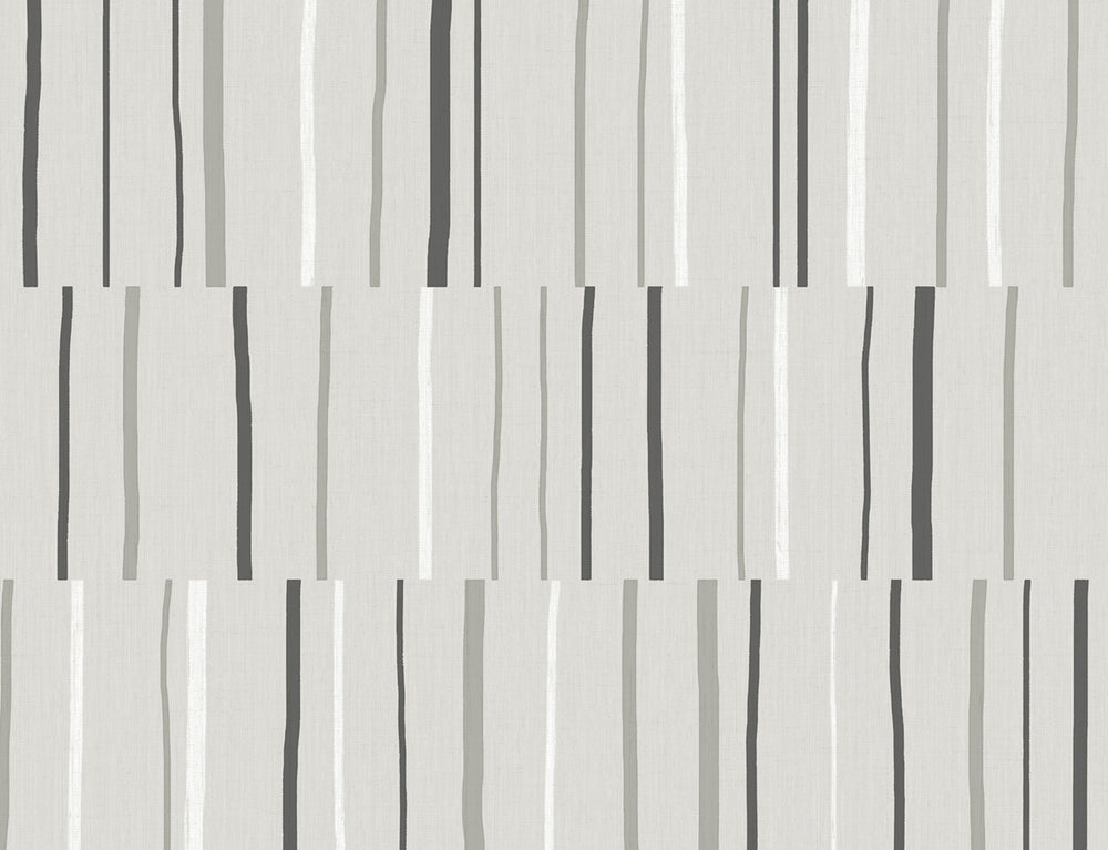 LW51200 Striped Wallpaper from the Living with Art collection by Seabrook Designs