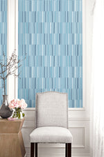 Seabrook Designs Living with Art Block Lines Striped Wallpaper