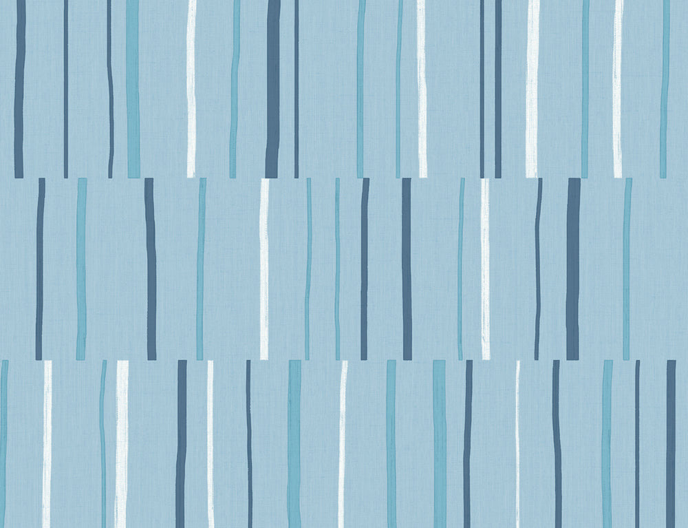 LW51212 Striped Wallpaper from the Living with Art collection by Seabrook Designs