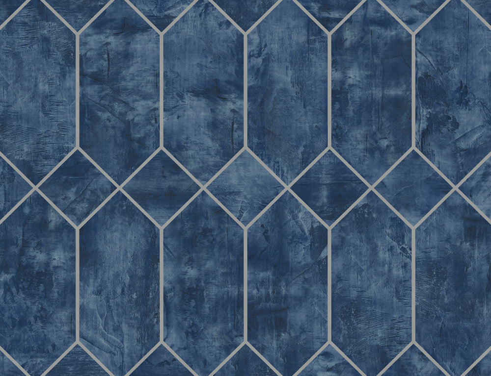 Seabrook Designs Living with Art Geometric Faux Wallpaper