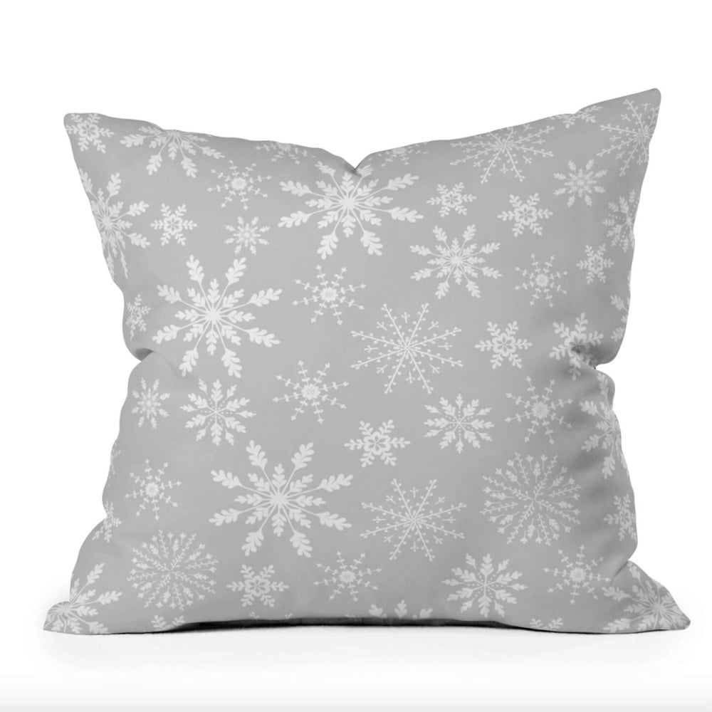 Lapland Snowflake Holiday Throw Pillow