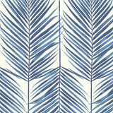 MB30002 blue palm leaf wallpaper from the Beach House collection by Seabrook Designs