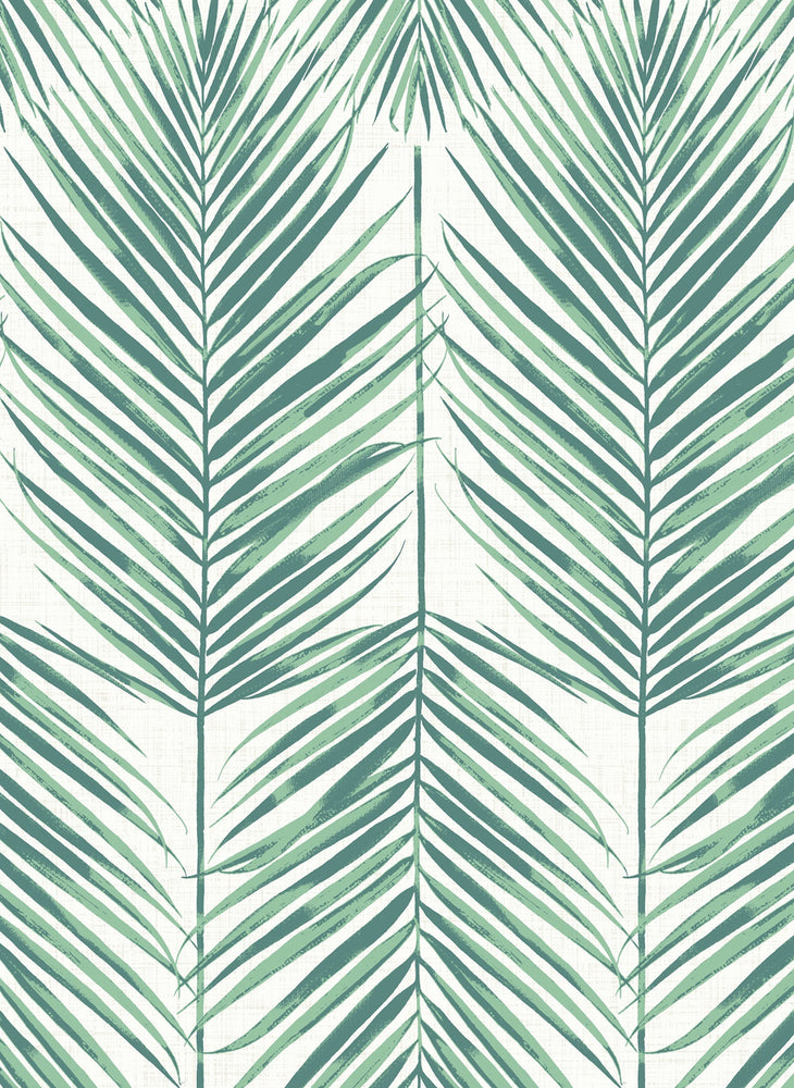 MB30014 palm leaf wallpaper from the Beach House collection by Seabrook Designs
