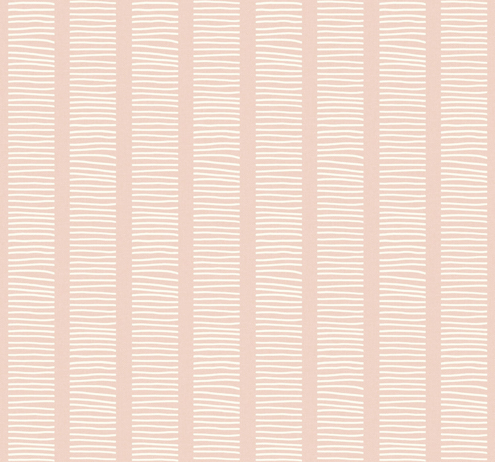 MB30411 pink coastline striped wallpaper from the Beach House collection by Seabrook Designs
