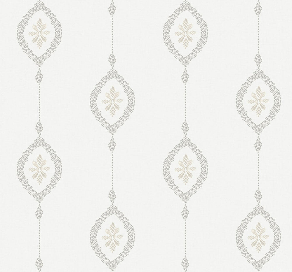 Seabrook Designs Beach House Sand Dollar Striped Wallpaper