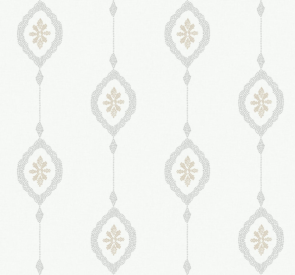 MB30505 sand dollar stripe nautical wallpaper from the Beach House collection by Seabrook Designs