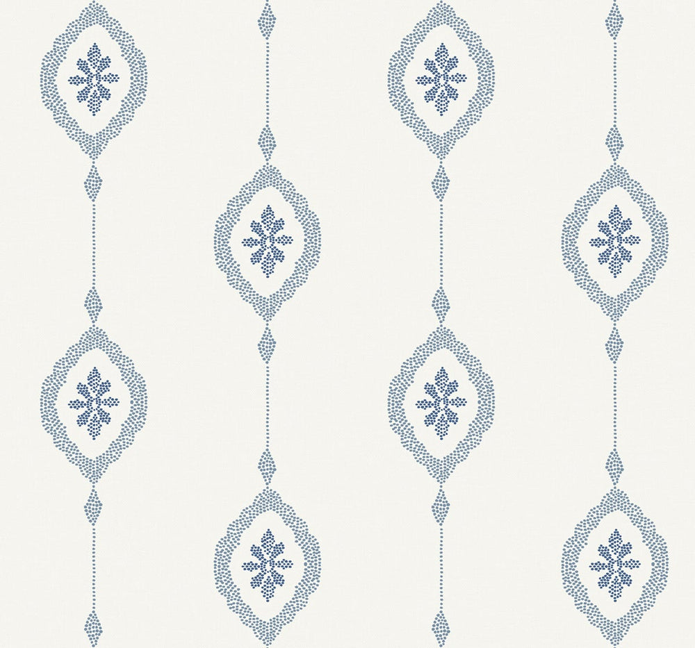 MB30512 sand dollar stripe nautical wallpaper from the Beach House collection by Seabrook Designs