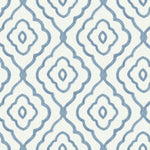 MB30902 blue seaside ogee wallpaper from the Beach House collection by Seabrook Designs