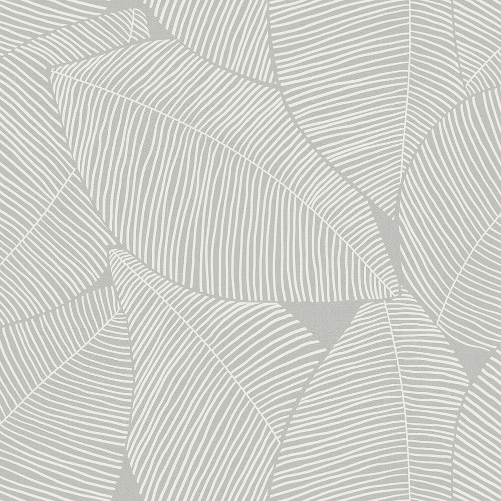MB31305 gray magnolia leaf coastal wallpaper from the Beach House collection by Seabrook Designs