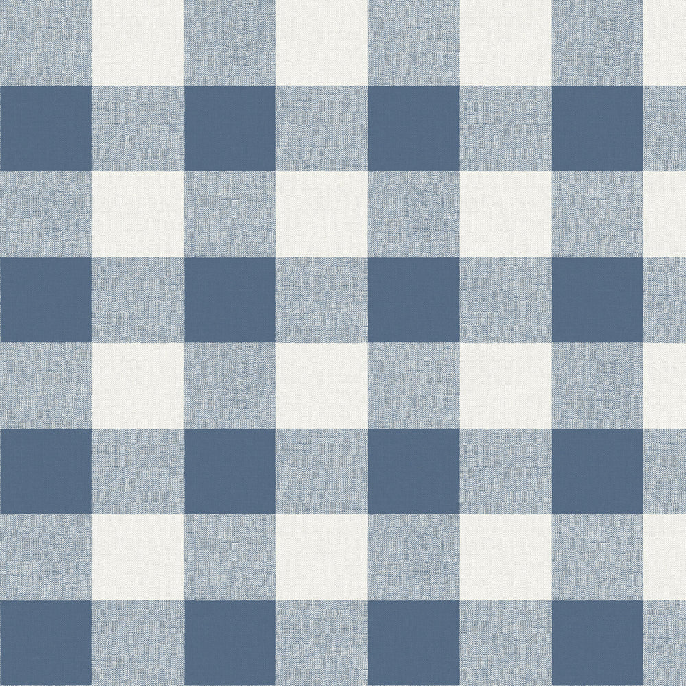 MB31902 blue picnic plaid coastal wallpaper from the Beach House collection by Seabrook Designs