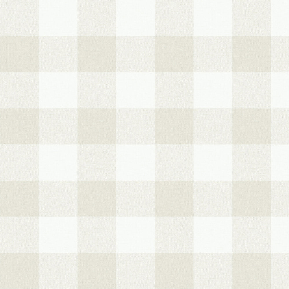 MB31905 neutral picnic plaid coastal wallpaper from the Beach House collection by Seabrook Designs