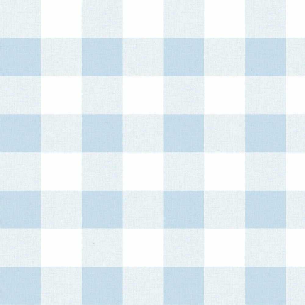 MB31912 blue picnic plaid coastal wallpaper from the Beach House collection by Seabrook Designs