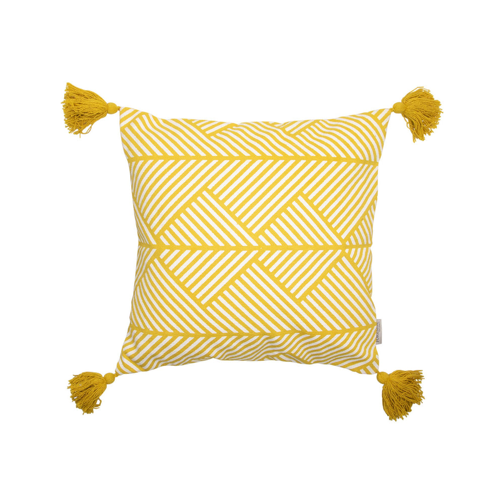 Memphis hand woven throw pillow front from Say Decor