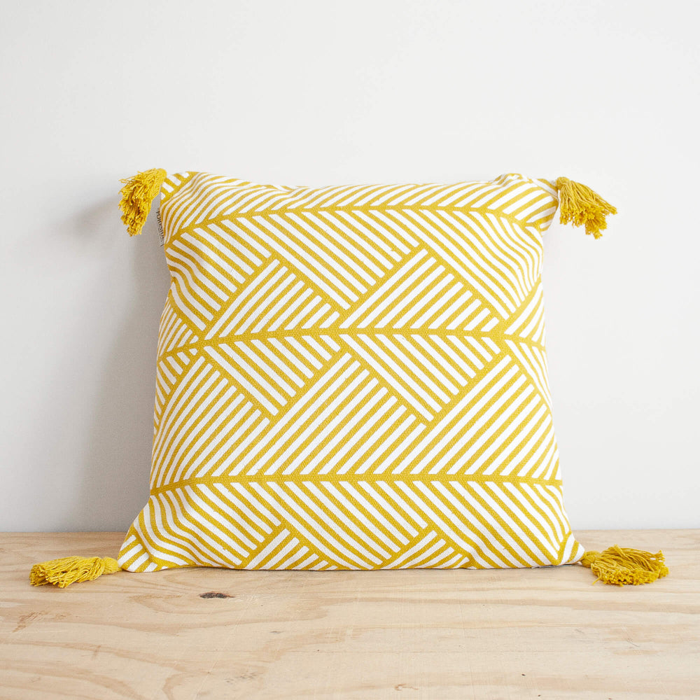 Memphis hand woven throw pillow from Say Decor