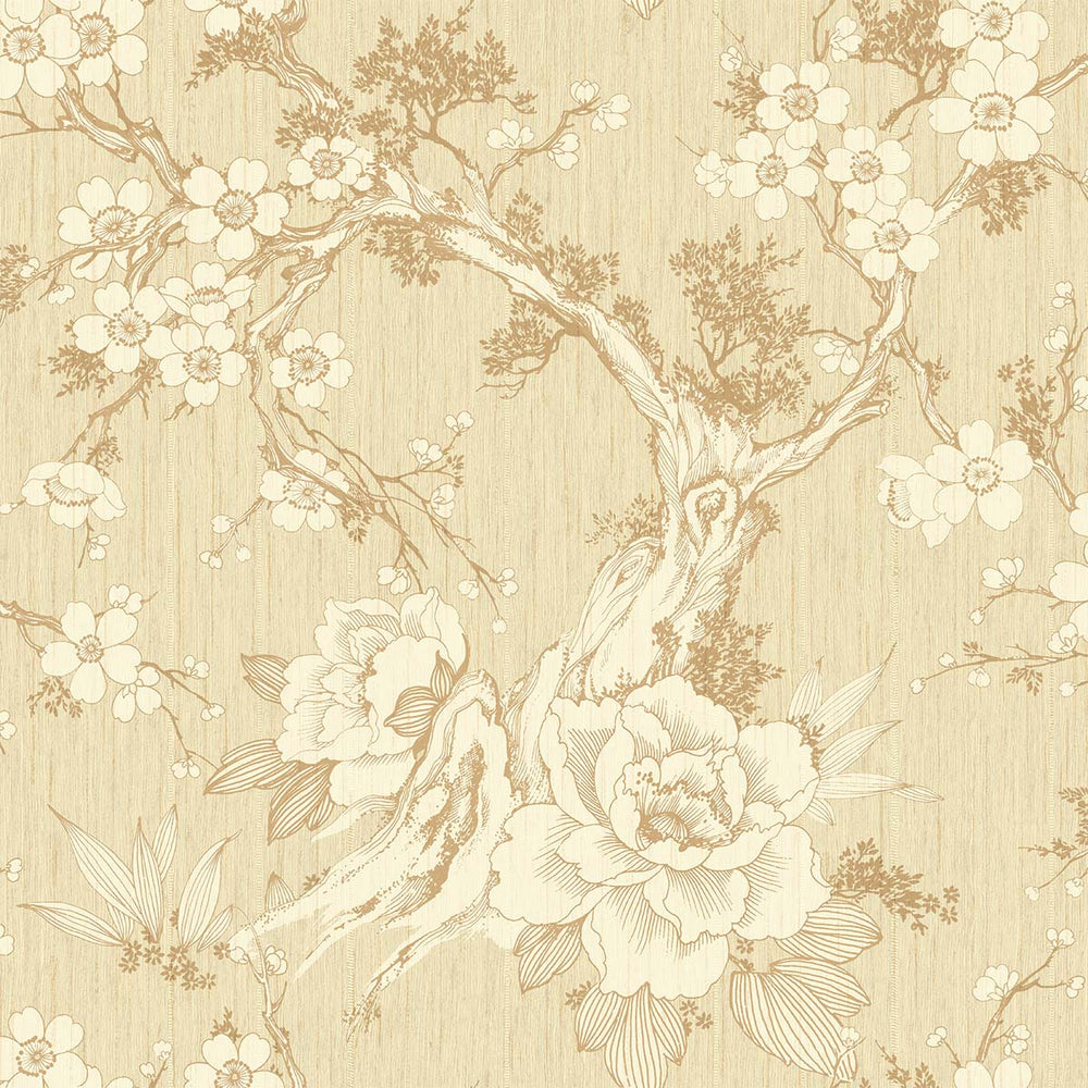 SD50001HN Apara blossom trail floral chinoiserie wallpaper from Say Decor