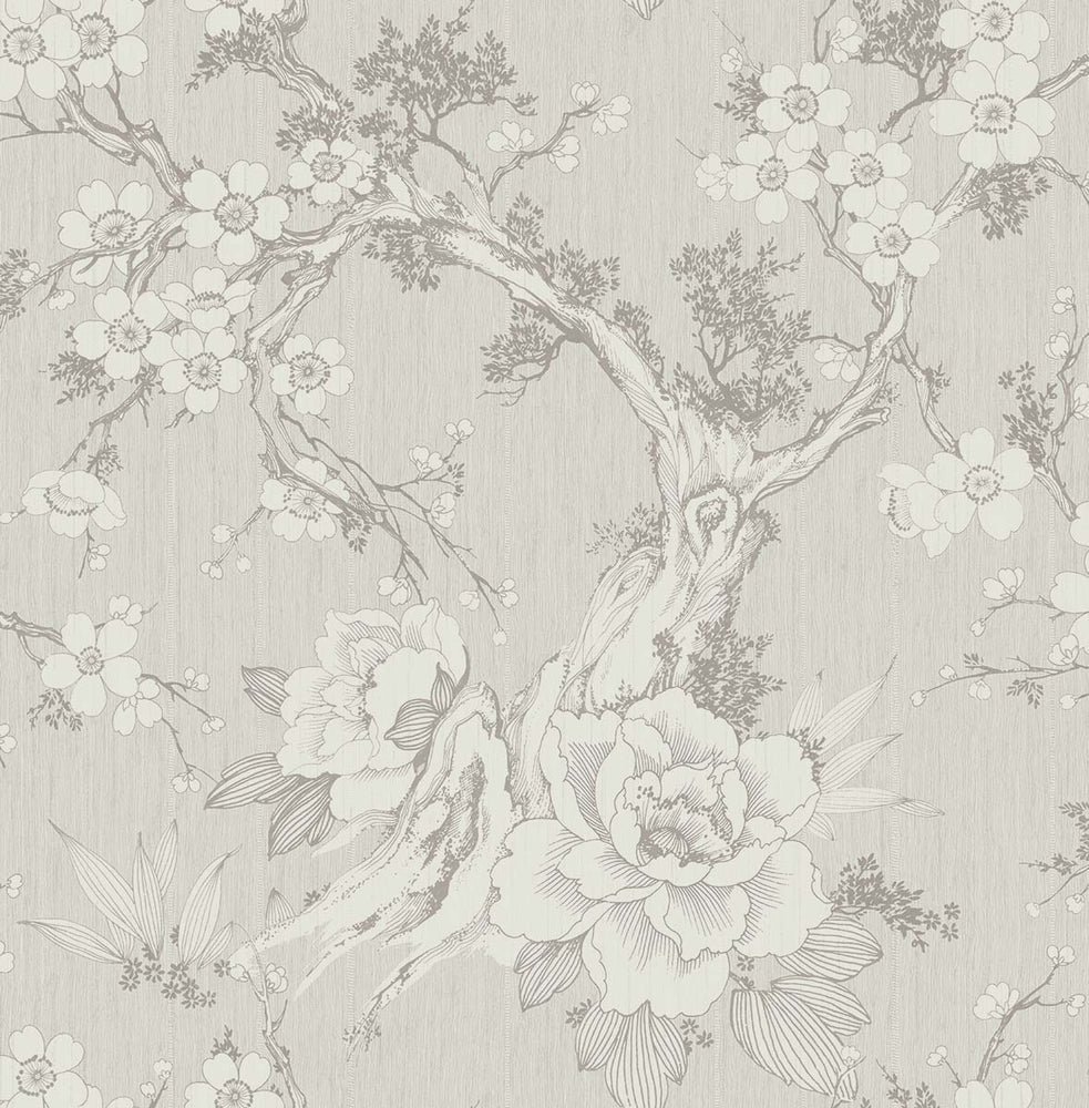 SD80001HN Apara blossom trail floral chinoiserie wallpaper from Say Decor