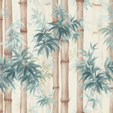 SD10501HN Moso bamboo watercolor botanical wallpaper from Say Decor