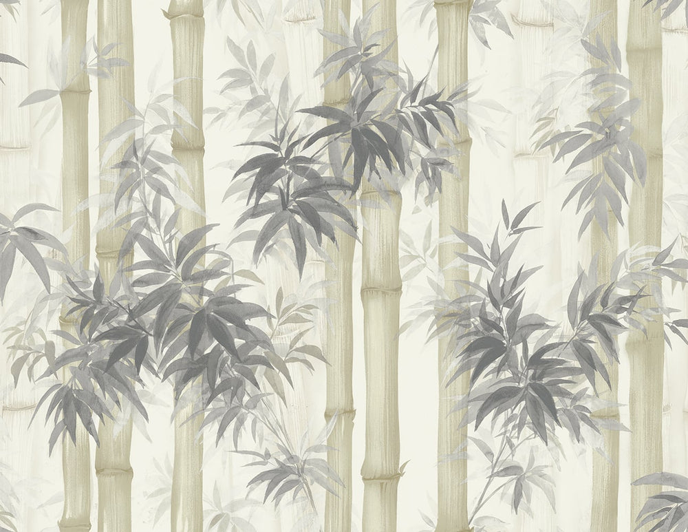 SD70501HN Moso bamboo watercolor botanical wallpaper from Say Decor