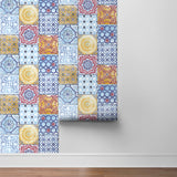 NW30001 moroccan tile peel and stick removable wallpaper by NextWall