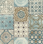 NW30002 peel and stick moroccan tile metallic wallpaper by NextWall