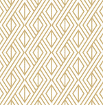 NW30105 peel and stick metallic gold geometric diamond wallpaper by NextWall