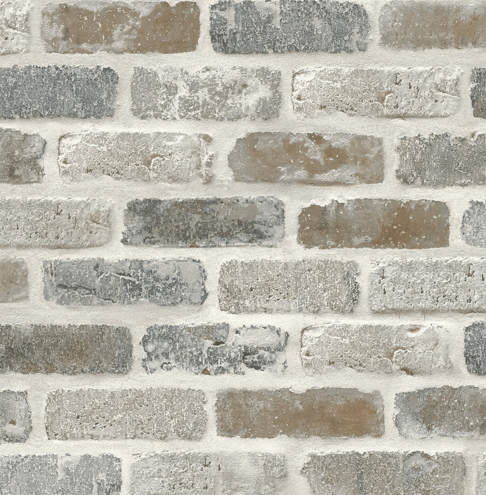 NW30500 peel and stick faux brick removable industrial wallpaper by NextWall