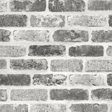 NW30510 peel and stick grey brick removable wallpaper by NextWall