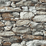NW30900 peel and stick faux stone removable wallpaper by NextWall