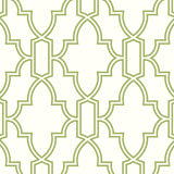 NW31604 peel and stick trellis green and white wallpaper by NextWall