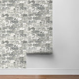 NextWall Weathered Brick Peel and Stick Removable Wallpaper