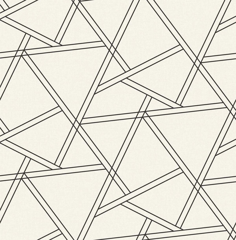 NextWall Railroad Geometric Peel and Stick Removable Wallpaper