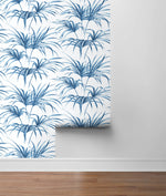 NW32502 tropical palm leaf peel and stick removable wallpaper roll by NextWall