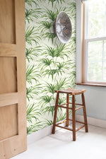 NW32504 tropical palm leaf peel and stick removable wallpaper decor by NextWall