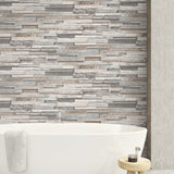 NW32600 wood peel and stick wallpaper bathroom
