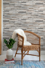 NW32600 wood plank peel and stick removable wallpaper