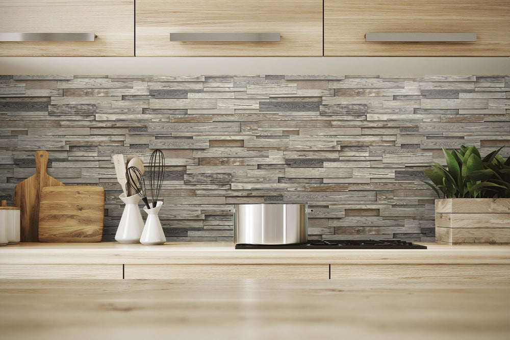 NW32601 wood peel and stick wallpaper kitchen backsplash