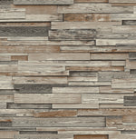 NW32600 reclaimed wood plank peel and stick removable wallpaper by NextWall