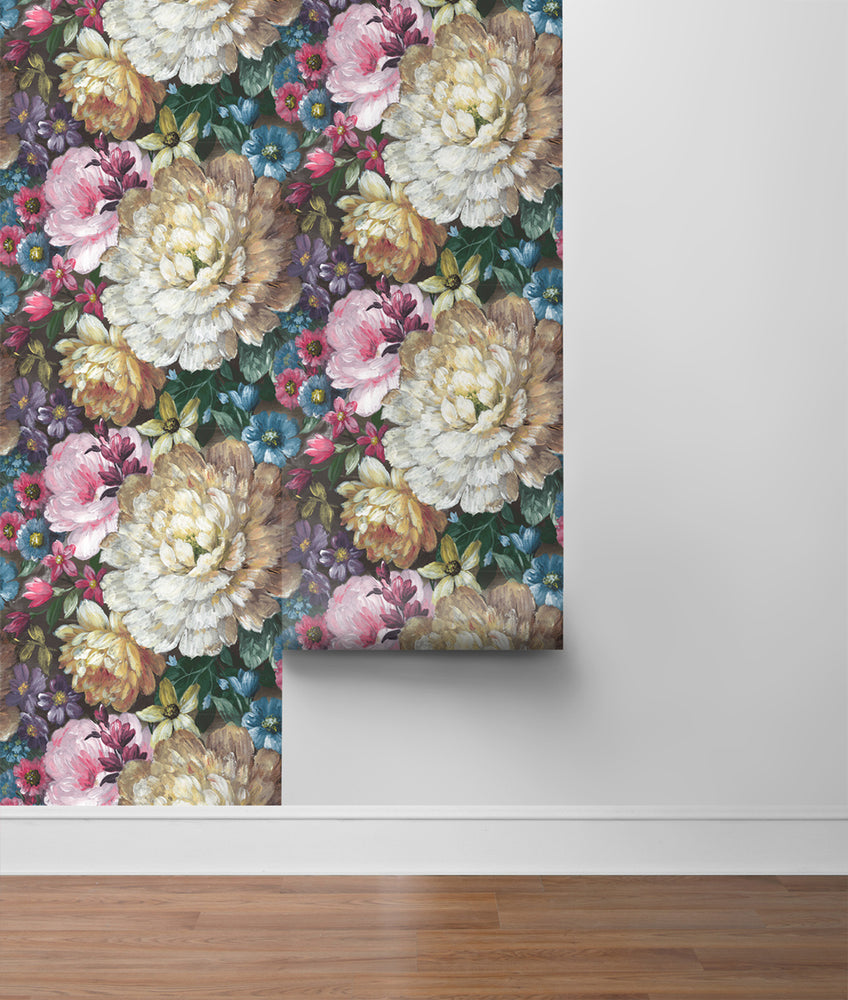 NW32700 blooming floral peel and stick removable wallpaper rolls by NextWall