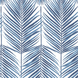 NW33002 coastal blue palm leaf peel and stick removable wallpaper by NextWall