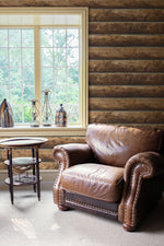 NW33905 log cabin wood rustic peel and stick removable wallpaper by NextWall