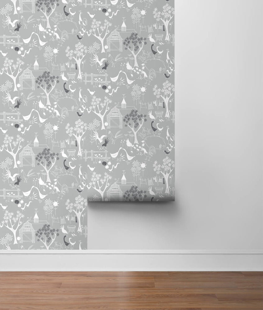 NW34308 scandinavian farm peel and stick wallpaper roll by NextWall