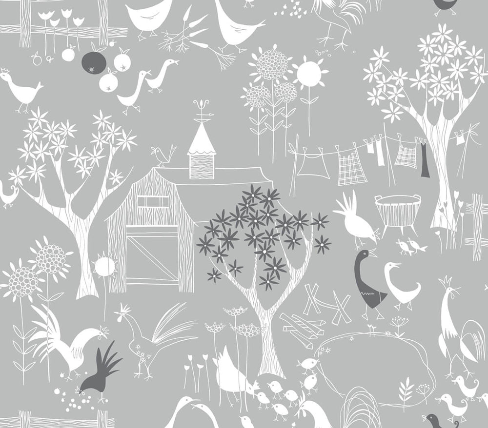 NextWall Rise and Shine Scandinavian Peel and Stick Removable Wallpaper