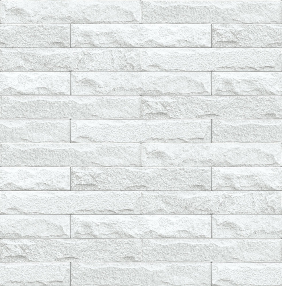NextWall Limestone Brick Peel and Stick Removable Wallpaper