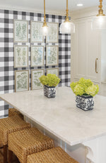 NW34500 picnic plaid peel and stick removable wallpaper kitchen by NextWall