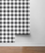 NW34500 picnic plaid peel and stick removable wallpaper roll by NextWall