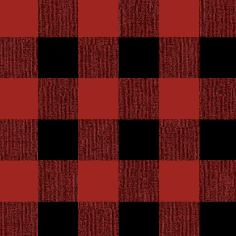 NW34501 buffalo plaid Christmas peel and stick removable wallpaper from NextWall