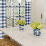 NW34502 picnic plaid peel and stick removable wallpaper kitchen by NextWall