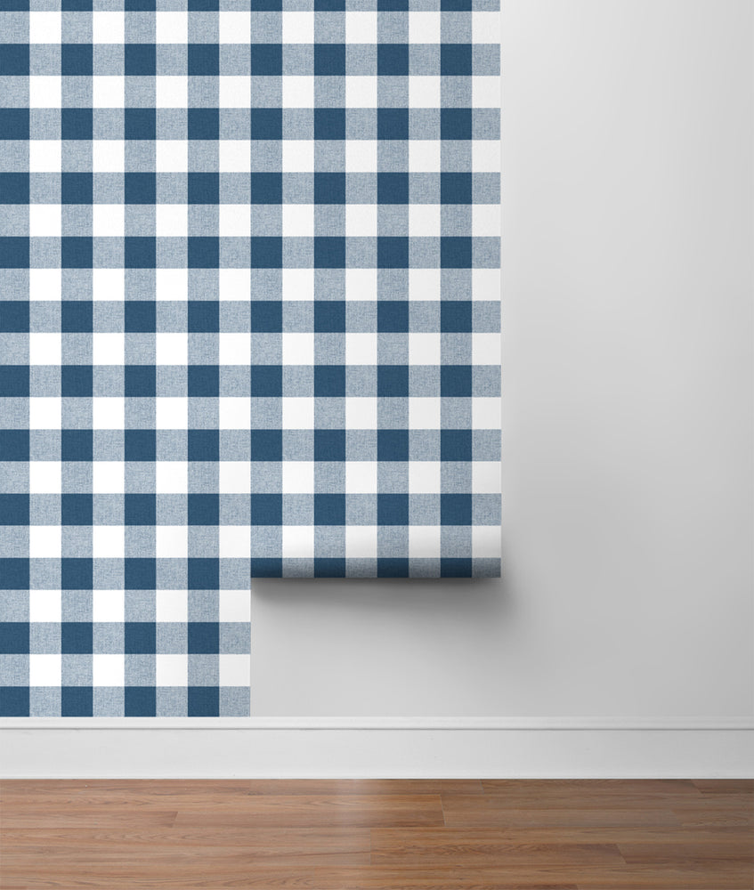 NW34502 picnic plaid peel and stick removable wallpaper roll by NextWall